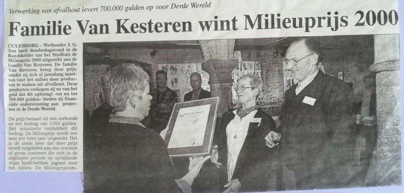 2000 - Milieuprijs