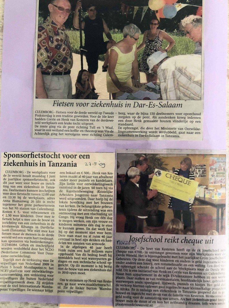 Diverse berichten Werkplaats voor de Wereld 2009