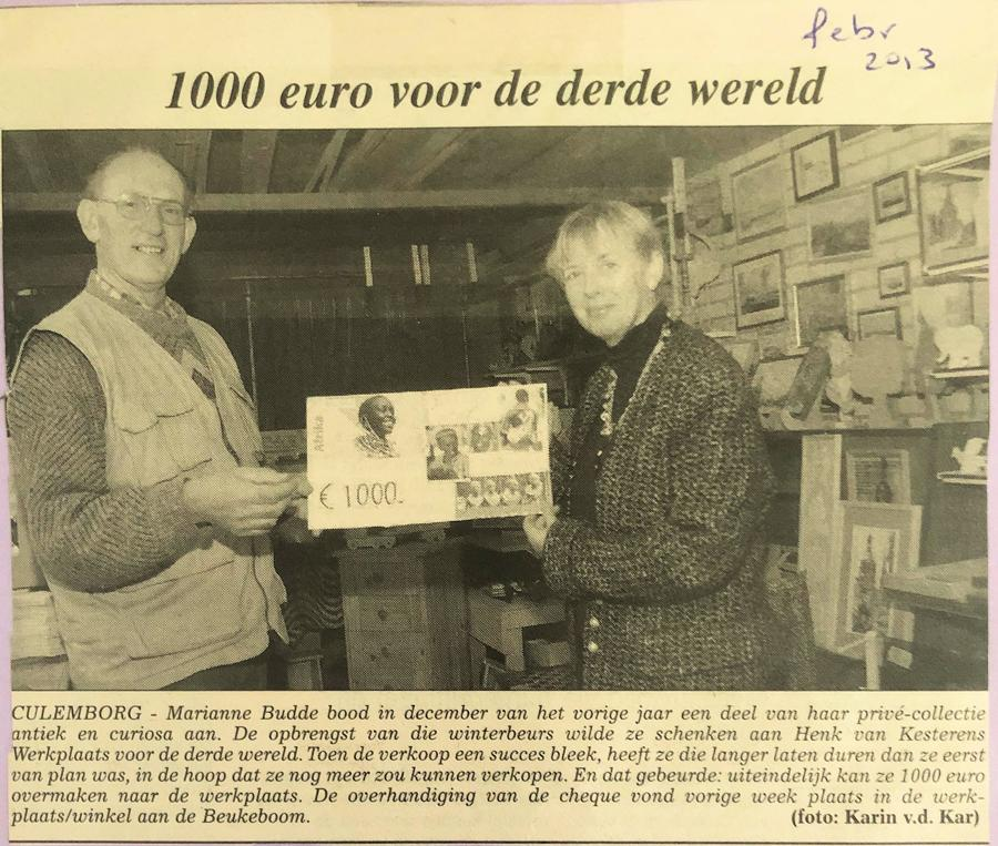 1000 euro van Marianne Budde 2013