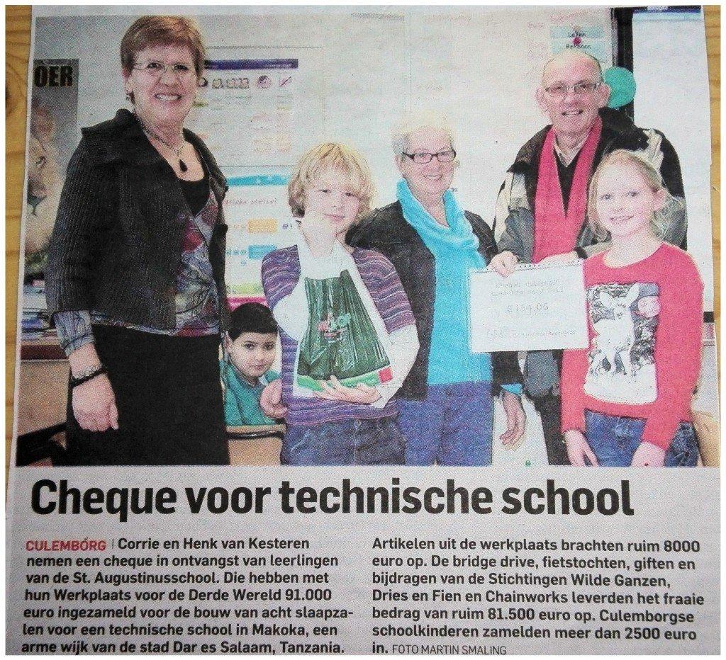 Cheque-van-scholieren 16-01-2014