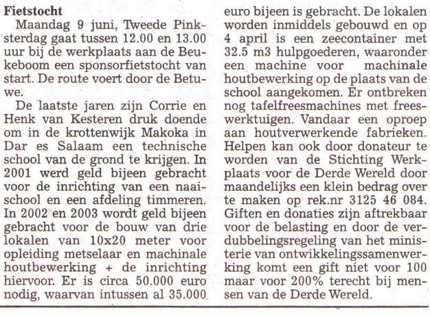 Culemborgse Courant 2003