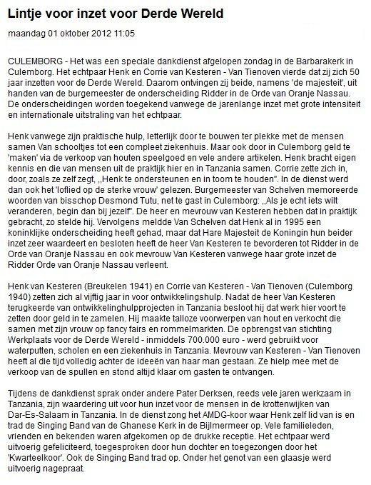Culemborgse Courant 2012