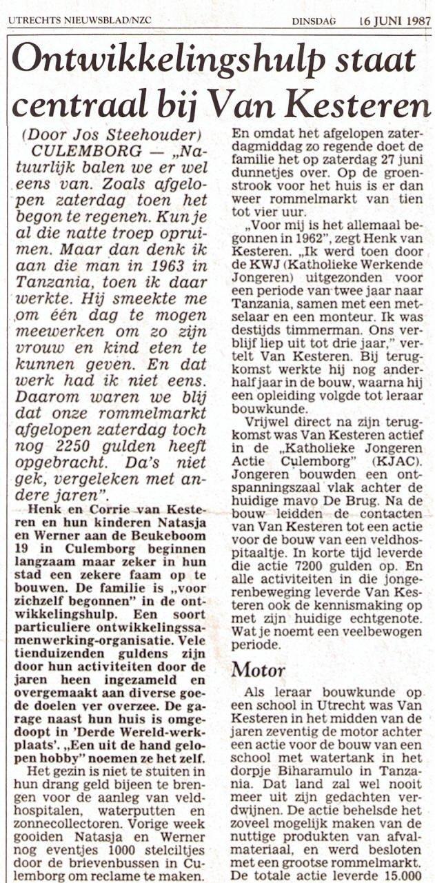 Utrechts Nieuwsblad 1987